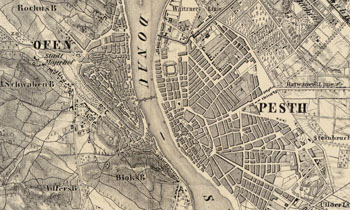 Budapest 1852 Pest Buda Obuda Es Tagabb Kornyekenek